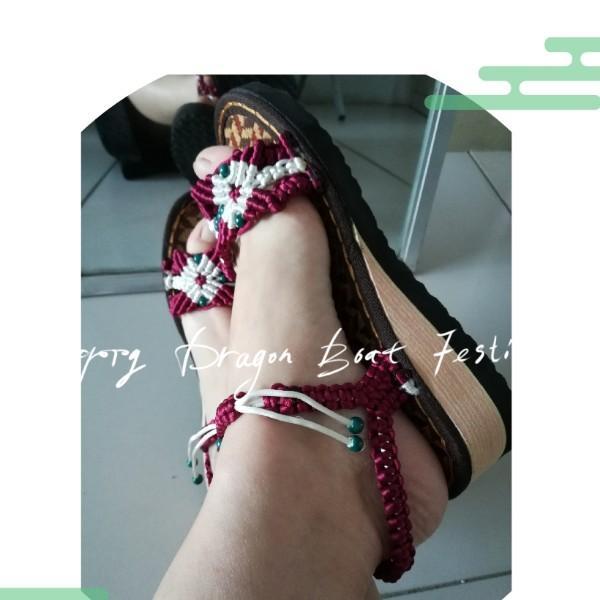 李姐手工编织鞋
