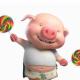 会打羽毛球的小猪猪