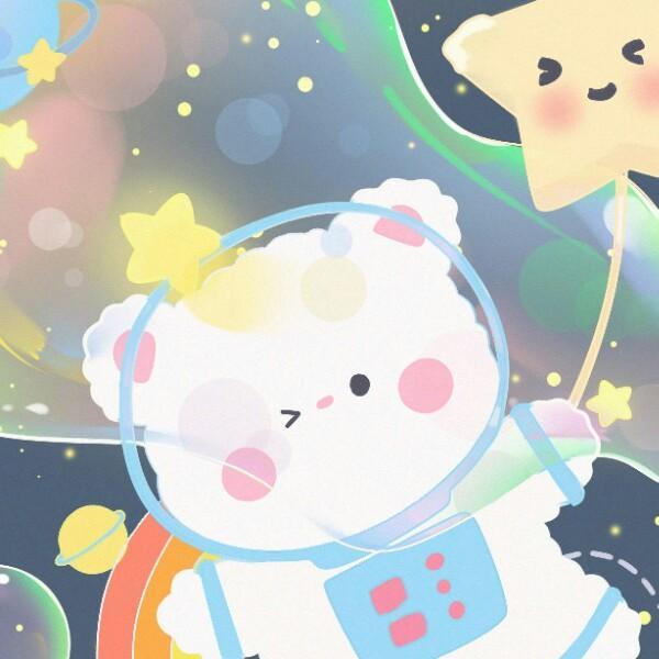 吹泡泡的小熊熊