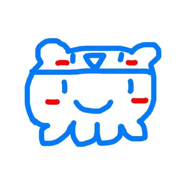 水蓝色果冻熊章鱼