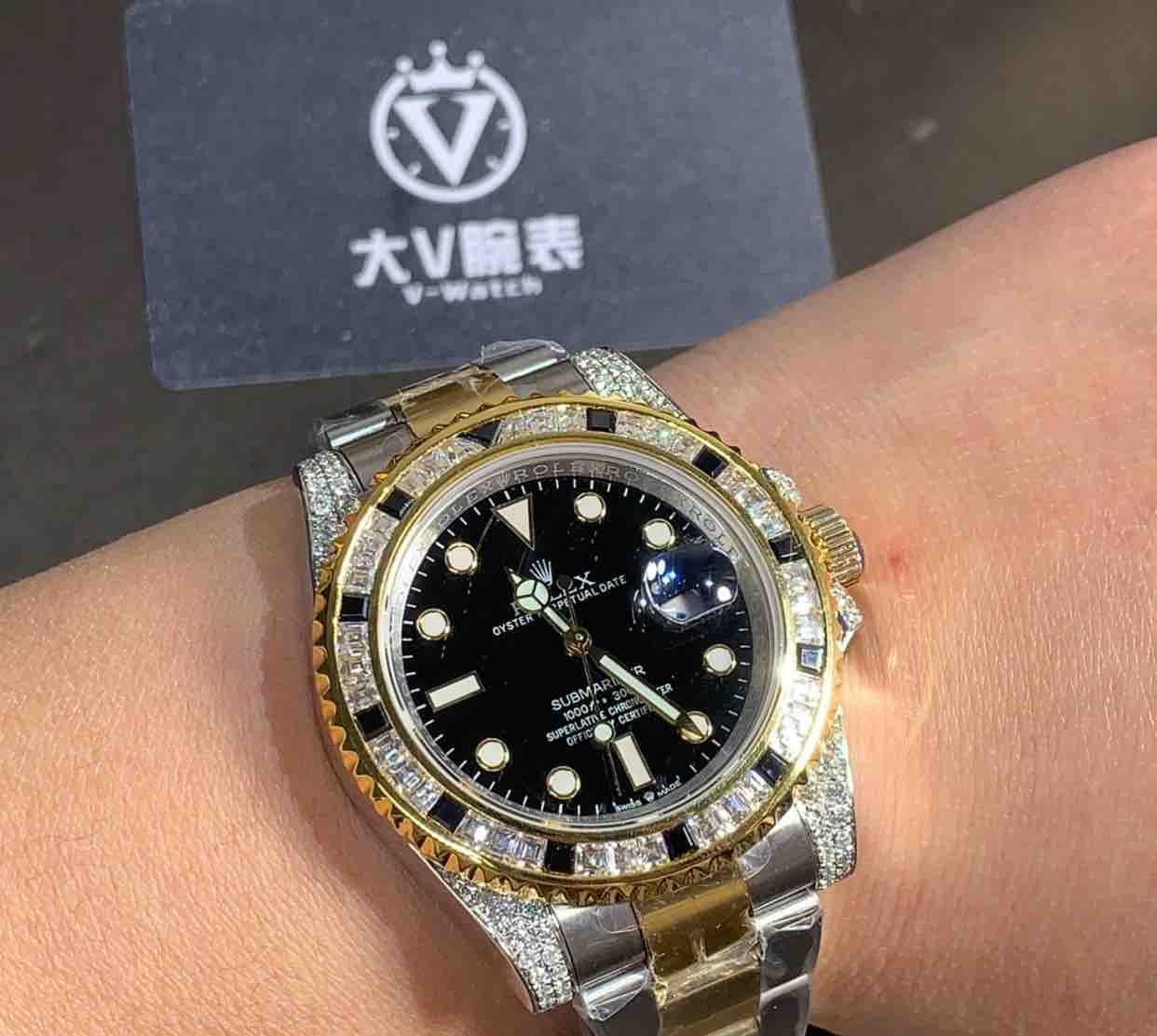 大V腕表镶钻